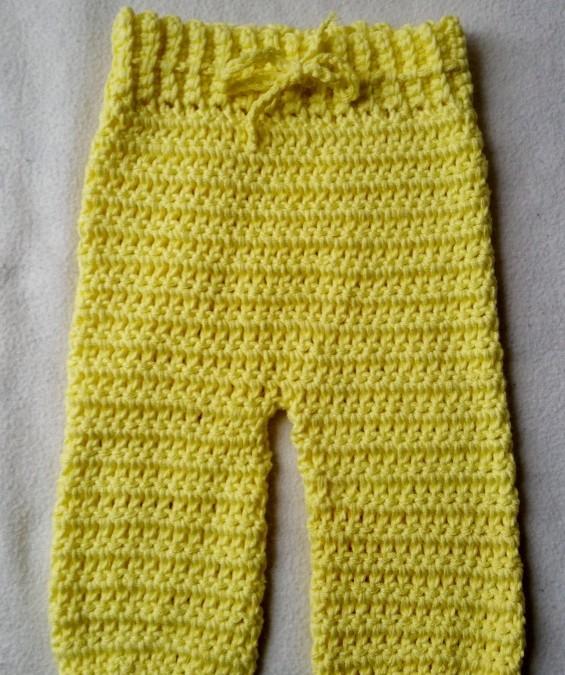 Long crocheted pants