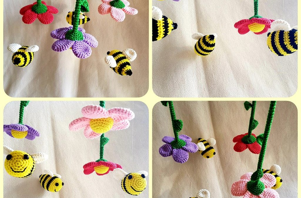 Baby Mobile – flowers and bees